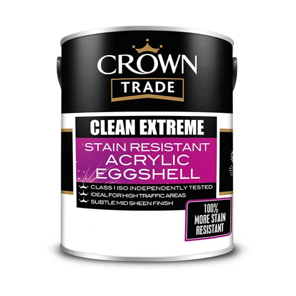 Crown Trade Clean Extreme Acrylic Eggshell Pdi Paints