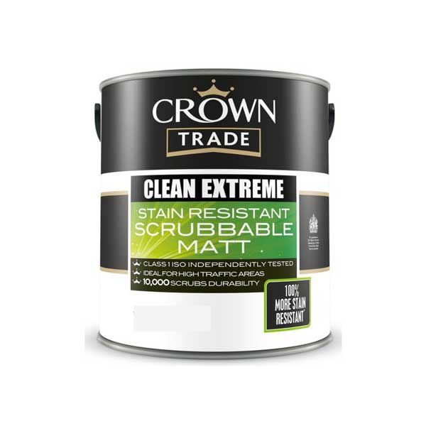 Crown Trade Clean Extreme Scrubbable Matt Pdi Paints